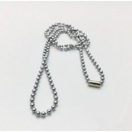 5uni. necklaces ball chain 60cms Ø3,2 Stainless Steel