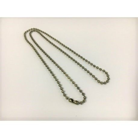 5uni. necklaces ball chain 70cms Ø3,2 Old Brass Bronze
